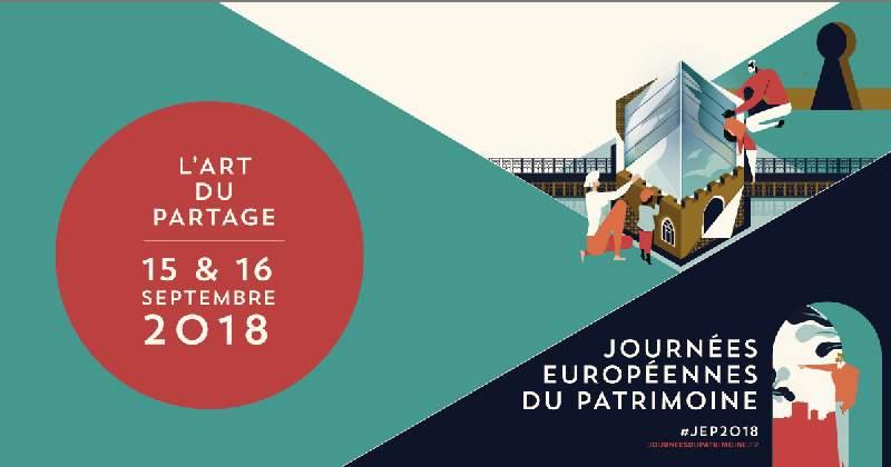 Samedi 15 et dimanche 16 septembre, Journées Européennes du Patrimoine