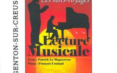 Samedi 23 mars à 17h30, Lecture musicale «Les Mots-Voyages»