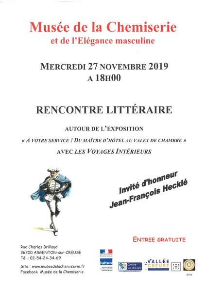 Mercredi 27 novembre à 18h00, Les Voyages Intérieurs s'invitent au musée