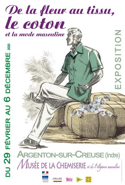 Exposition «De la fleur au tissu, le coton et la mode masculine»