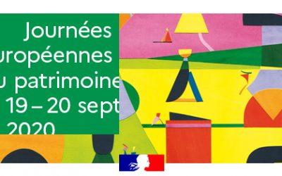 Samedi 19 et dimanche 20 septembre, Journées Européennes du Patrimoine