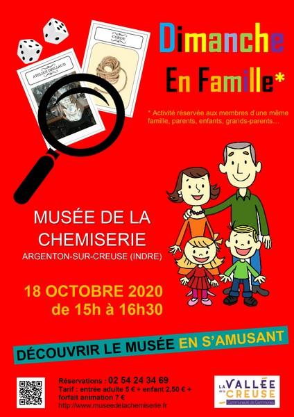 Dimanche 18 octobre à 15h00, dimanche en famille
