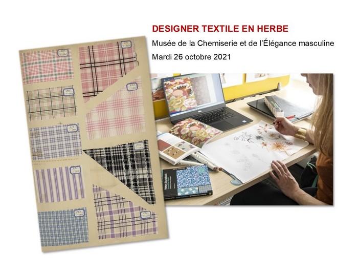 Mardi 26 octobre, atelier des vacances «Designer textile»